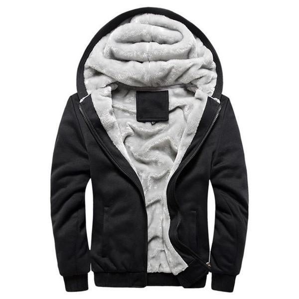 2018 autunno inverno nuovi uomini moda casual Aggiungi giacca imbottita in cotone Cappotto con cappuccio