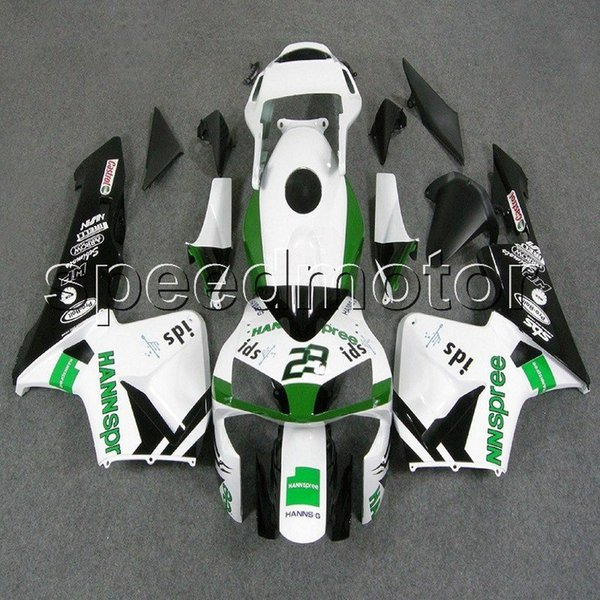 colors+Gifts Injection mold white green F5 03 04 CBR600 RR motorcycle cowl Fairing for HONDA CBR600RR 2003 2004 ABS plastic kit