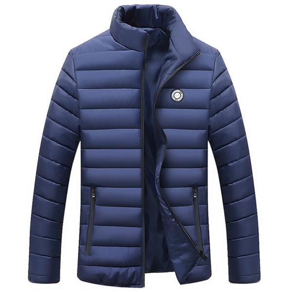 Новые куртки куртка мужчины осень зима теплая верхняя одежда свет хлопок мягкий вниз пальто повседневная ветровка мужские куртки