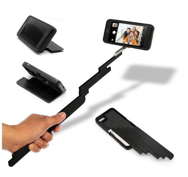 Selfie Stick iPhone Case Bluetooth Trigger Rotazione a 360 gradi per iPhone 6 / 6s