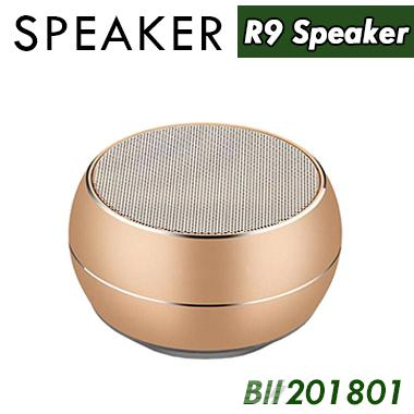R9 Mini Wireless Metal Bluetooth Speaker LED Light Subwoofer Speakers Support TF FM Mic For iPhone 7 6 6S Samsung Android Phone 60pcs