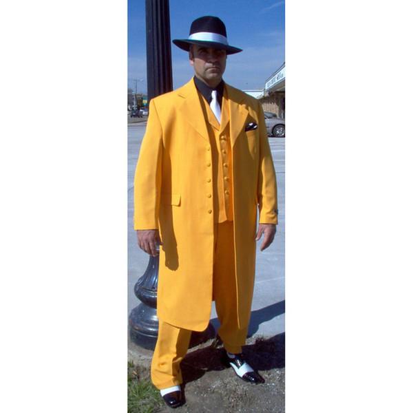 Handsome Long Pattern Groom Wear Notch Lapel Groom Tuxedos Five Button Groomsmen Best Man Suit Mens Wedding Suits (Jacket+Pants+Vest+Tie)