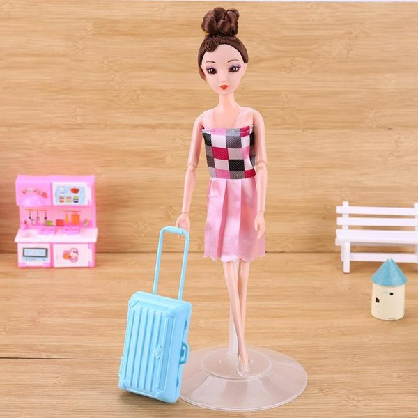 1pc Plastic Doll Toy Accessory Transparent Bracket Doll Skirt Standing Support Multifunctional Playing House Toys Article