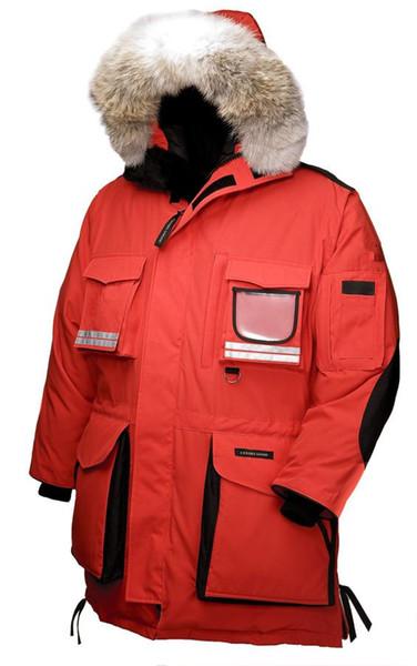 Großhandel Kanada Neue Ankunfts Verkaufs Männer Schnee Beschwörungsformel Unten Parkas Hoodie Schwarz Marine Grau Jacken Winter Mantel Parka Pelz