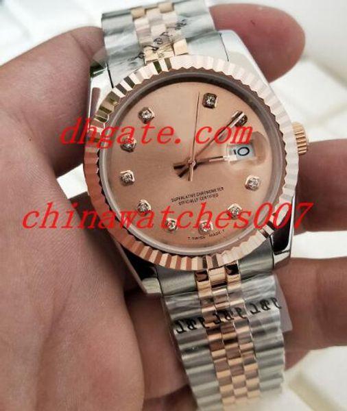 Sıcak satış 2018 Yeni Stil Lüks 178274 altın adam 41mm Asya 2813 paslanmaz çelik mekanik hareketi otomatik Kol Saati
