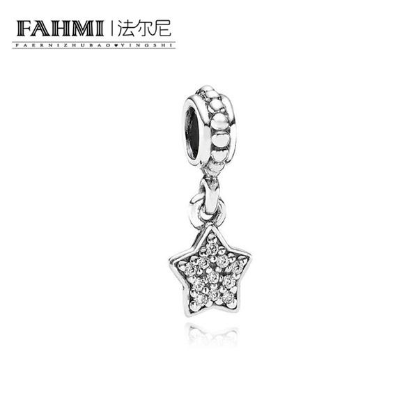 FAHMI 100% 925 Sterling Silver 1:1 Original 791024CZ Authentic Temperament Fashion Glamour Retro Pendant Wedding Women Jewelry