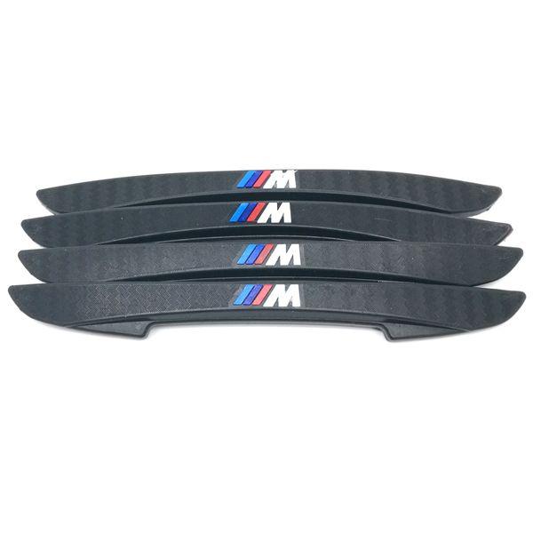 4 PZ M Logo Anti-collisione Adesivi per la protezione del bordo laterale della porta Nastro anti-sfregamento per BMW Serie M 3 1 E46 E39 F10 F20 F30