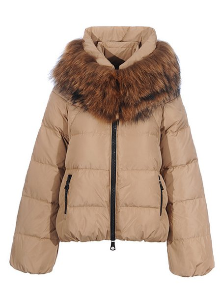 Wholesale 2018 top quality Winter Jacket New Winter Women parka zipper pocket Hooded Coat Fur women plus velvt Coat furry hoodie Clothes