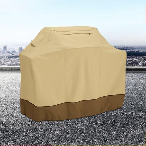 Beige Oxford Cloth BBQ Covers Práctico Anti Ultravioleta Barbacoa Parrilla Cubierta Fácil de llevar Rain Proof Outdoor Supplies Alta calidad 52rs4 B