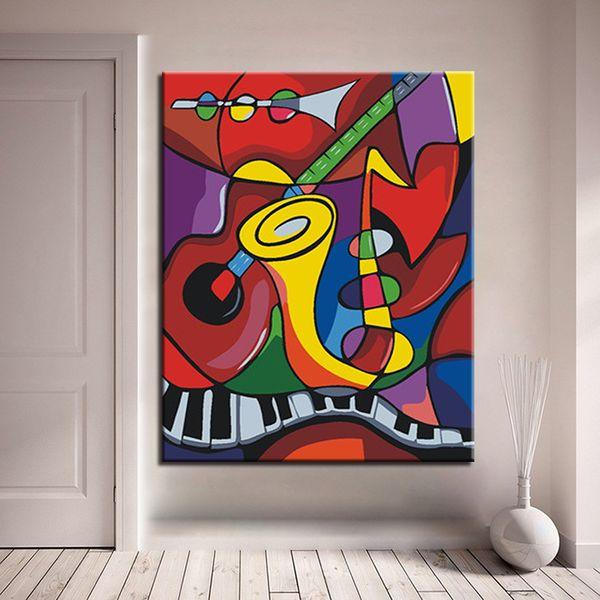 Compre Pintura Enmarcada Por Números Diy Digital Music World Oil ...