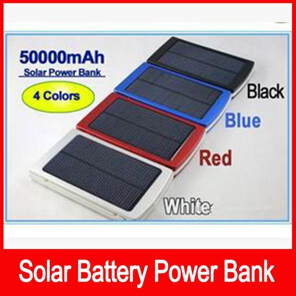High Capacity 50000 mah Solar Charger Battery 50000mAh Solar Charger Panel Dual Charging Ports portable power bank