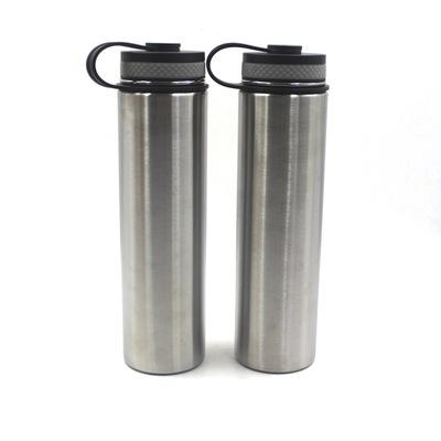Sliver 24oz water bottle Double Wall Vacuum Insulated Stainless Steel flip lid Sports Water Bottle Standard Mouth with BPA Free