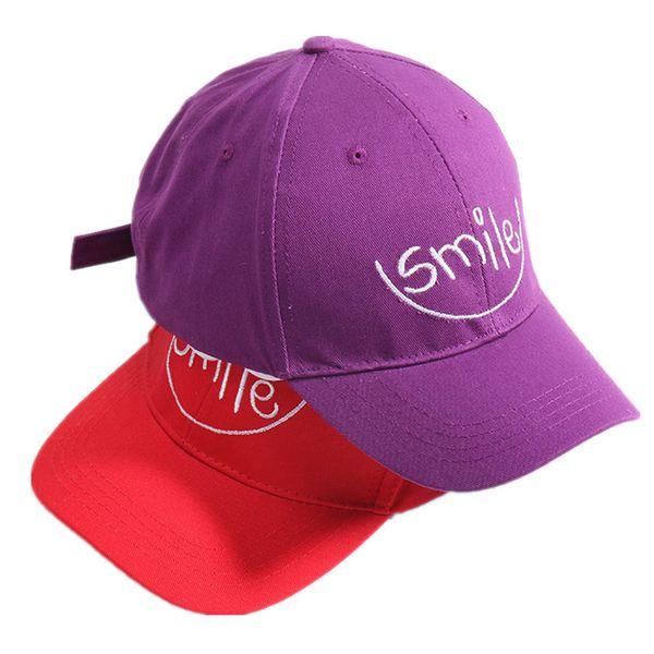 Spring Children HipHop Baseball Cap Smile Letters Embroidered Sun Caps Child Summer Kids Sun Hat Baby Boys Girls Snapback Caps