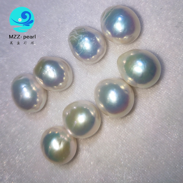 low price large drop shape edison freshwater pearls,white pink purple colors