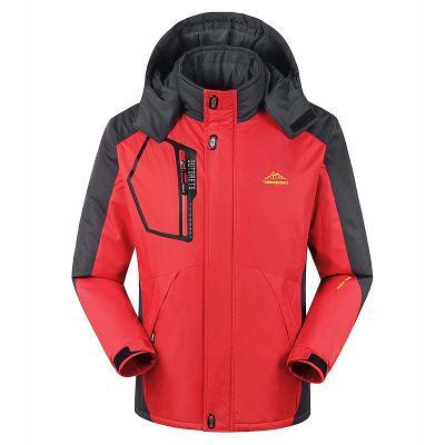 Winter Clothes Mens Windbreaker Parkas Plus Velvet Padded Jacket Keep Warm Fleece Outwear Overcoat Size L- 9XL Waterproof Coat High Quality