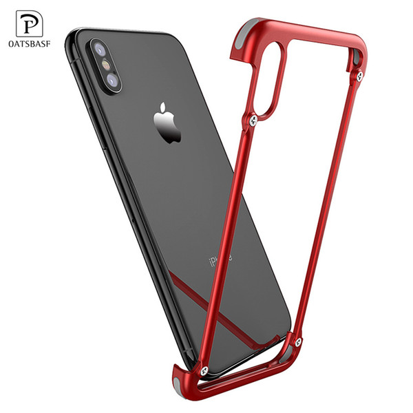 wholesale Original X Shape Metal Case for iPhone XS Max Case Personality Back Cover for iPhone X shockproof shell Bumper Case