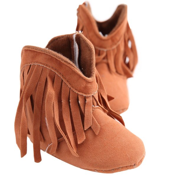 Fashion Fringe Baby Boots Non-slip Nubuck Leather Infant Toddler Shoes for Kids Spring Autumn Newborn Boots for Girls 6 Colors