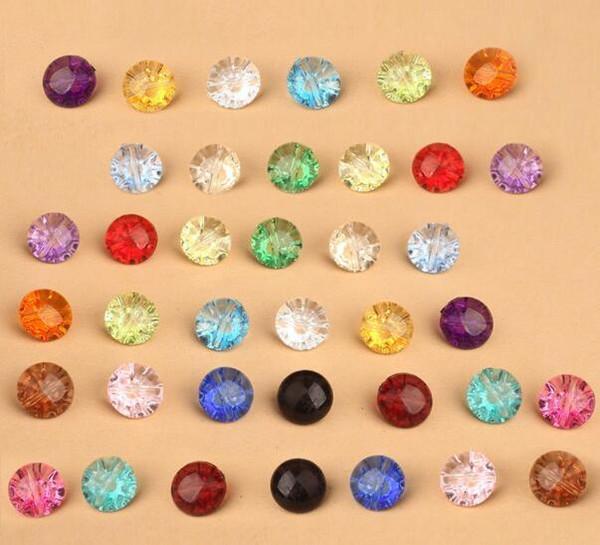 Yeni Karışık Renk Şeffaf Renk Plastik Kristal Düğmeler Dikiş Kumaş DIY Çocuk Giyim Aksesuarları Hediyeler Ücretsiz Kargo