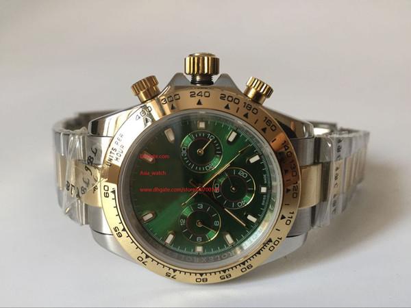 Orologio di lusso di alta qualità con zaffiro 40mm 116523 quadrante verde senza orologio meccanico automatico da uomo Guarda