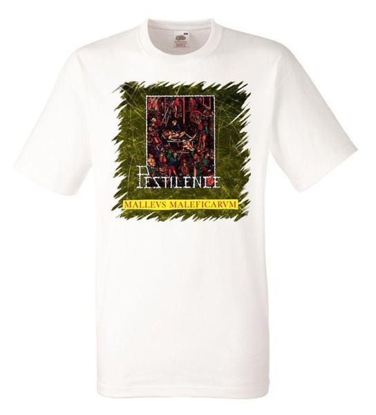PESTILENCE MALLEUS MALEFICARUM White Herren T-shirt Men Rock Band Tee Shirt