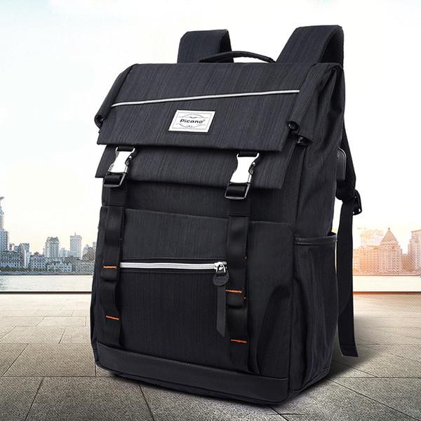 "14"" Laptop USB Charging Backpack Multifunction Anti Theft Schoolbag For Women Men Waterproof Sport Fitness Training Gym Bag"