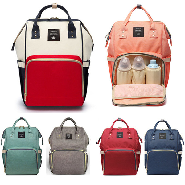 2018 New Brand Large Capacity Baby Bag Travel Backpack Maternity Nappy Bag Waterproof Nursing Bag for Baby Mom Women Care Bags Y18110202