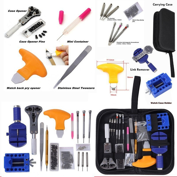 144 Stücke Uhrenöffner Repair Tool Kit Uhr Werkzeuge Uhr Repair Tool Kit Pin Remover Set Frühling Bar Fall Opener Link BestSale
