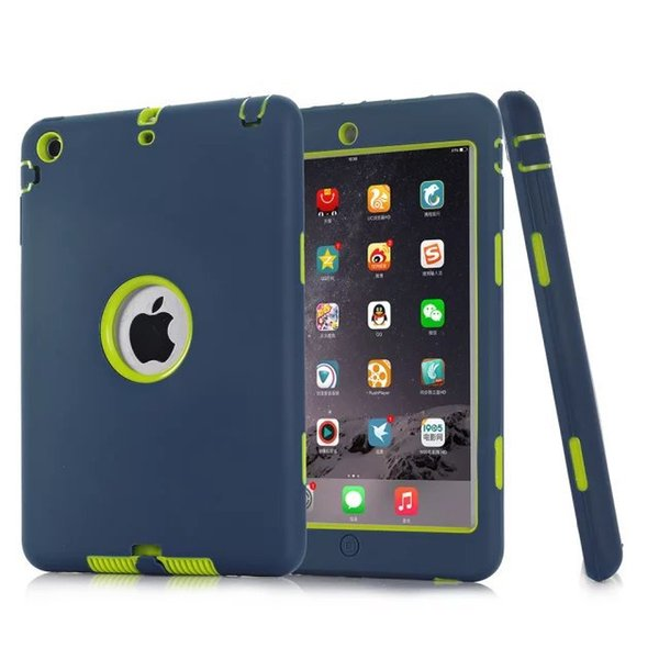 For Apple ipad 2 3 4 5 6 case Amor Heavy Duty Drop resistance Shock Proof tablet Case for IPAD MIMI 1 2 3 4 ipad pro9.7 air 1 2
