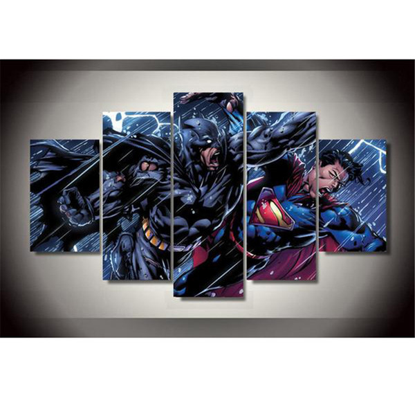 superman nursery decor.htm 2019 superman vs batman war comics canvas prints wall art oil  2019 superman vs batman war comics