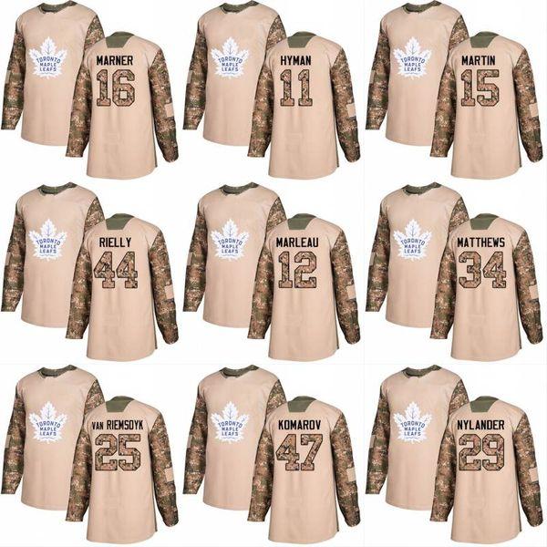 2018 Camo Veterans Day 31 Frederik Andersen 22 Nikita Zaitsev 46 Roman Polak Mens Womens Youth Toronto Maple Leafs Custom Hockey Jerseys