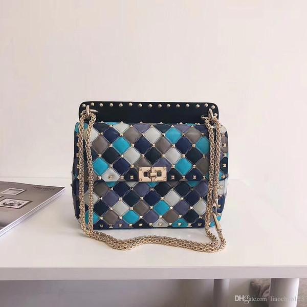 Women Best 7A Quality tote Classic messenger bag vintage Colorful diamond quilts ladies shoulder bags Genuine leather cowhide handbags