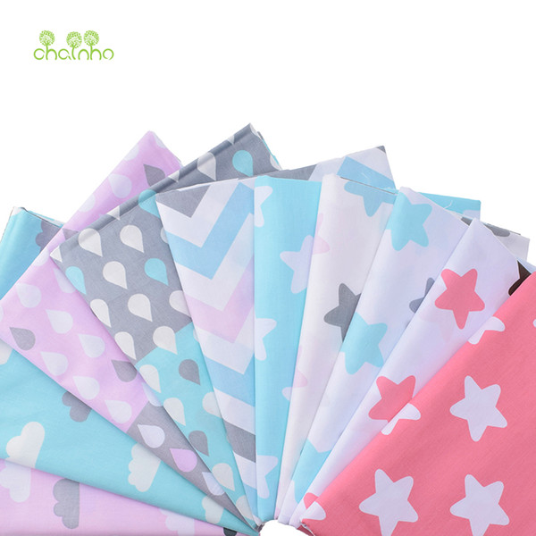 10pcs Print Cotton Fabric For Sewing Doll Baby Bedding Clothes Dress Skirt Patchwork Cartoon Material 40x50cm CC106