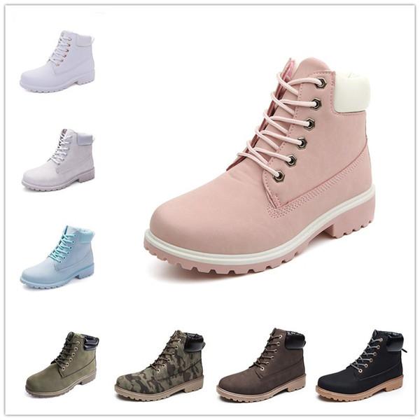 información para 71114 24f25 Compre Nuevo Otoño Principios De Invierno Zapatos Mujer Tacón Plano Martin  Boots Botas De Mujer De Moda Marca Mujer Zapatos Tobillo Botas Suela De ...