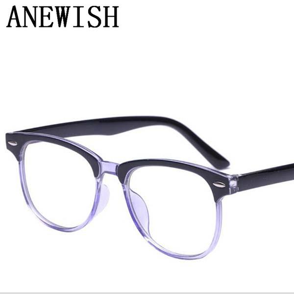 2017 New Cheap Discount Retro Anti-blue light Anti-UV Hardened men's eye glasses frame for women's eyeglasses masculino Goggles