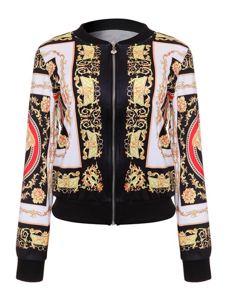 DARSJUCBD 2018 Sexy Indie Folk Donna Giacca Cappotto Dashiki Africano Stampato Casual Giacca Bomber S M L XL S18101102