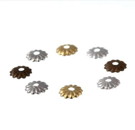 LINSOIR 1000pcs/lot 5mm Hollow Flower Pattern Bead Caps Gold/Rhodium/Silver Color End Caps for Jewelry Making Findings F2403