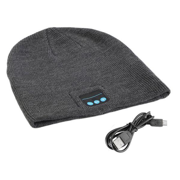 Unisex Inteligente Sem Fio Bluetooth Música Inverno Quente Gorro de Malha Gorro Chapéu Cap Com Fone de Ouvido Handsfree
