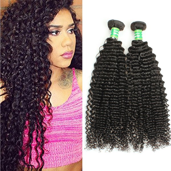 Afro Kinky Curly Brazilian Hair Weave 4Bundles 8A Kinky Curly 100% Human Hair Extension Deal Remy Hair Bundles Can Be Dyed and Bleached