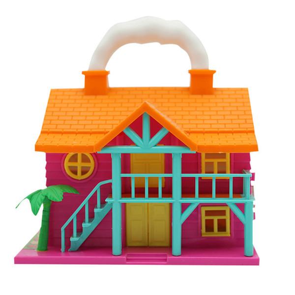 Puppenhaus Pretend Play Möbel Spielzeug Kunststoff Puppenhaus Möbel Miniatur Spielzeug Set Puppenhaus Kinder Kinder Spielzeug DIY