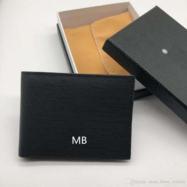 Men's Leather Business Small Wallet Short MT Multifunctional MB Luxury Gift Bag Credit Card Holder Pocket Photo M B Wallets