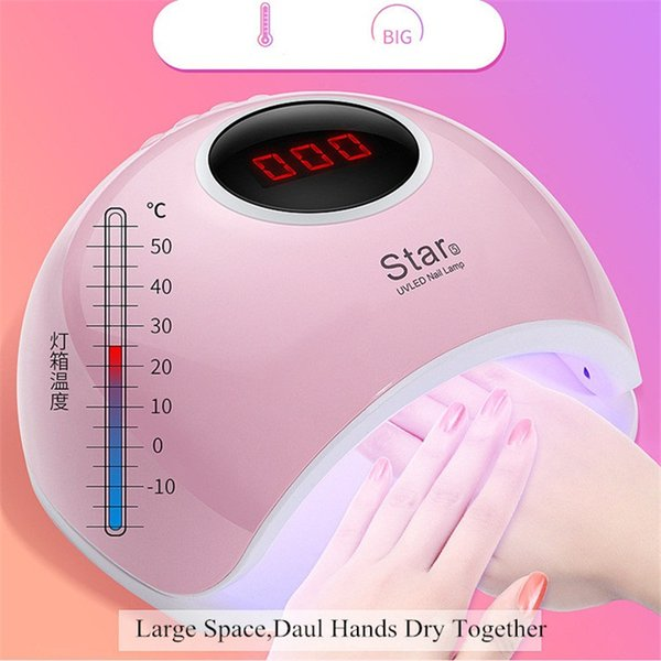 wholesale LED Lamp For Nails Dryer Sun Light Lamp For Manicure 72W Smart LCD Display For All Gel Nail Polish Nail Art Tools