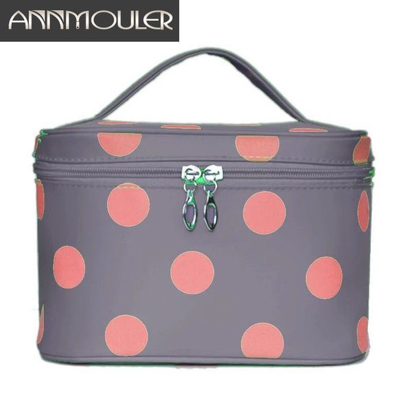 Brand Women Makeup Bag Case Large Capacity Cosmetic Bag Travel Pouch Polka Dots Printed Handbag Ladies Toiletry Bags
