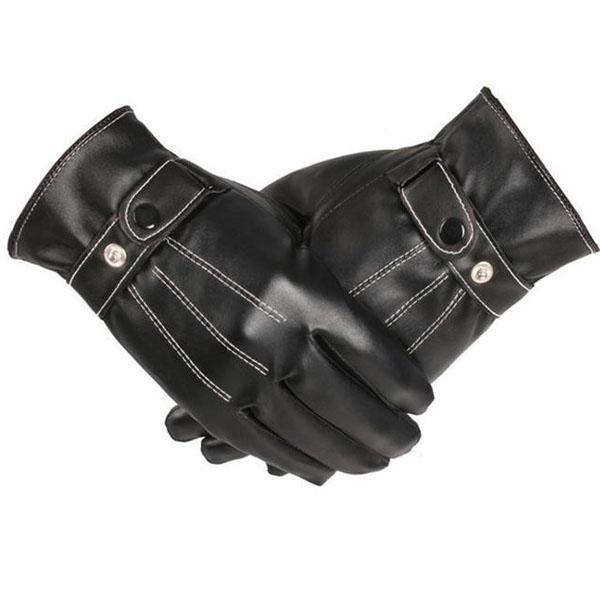 Guanti in pelle da uomo autunno inverno touch Guanti touch screen neri in pelle sensoria mobile Guanti in pelle di pecora finti PU nuovo arrivo 2018