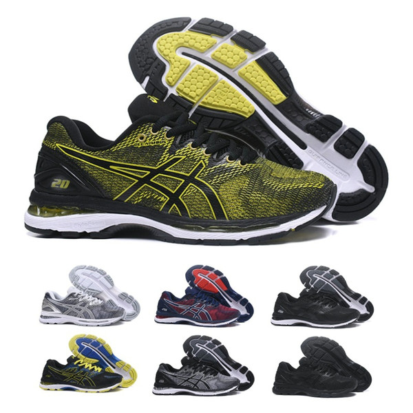 2019 Asics GEL-Nimbus 20 Men Cushioning Running Shoes Top Quality Online Black Blue Sport Sneakers Designer Shoes Trainers 7-11