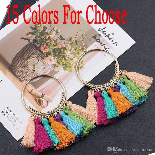 Femmes Rétro Vintage Boho Bohémien Long Drop Dangle oreille Crochet Boucles D/'oreilles Bijoux New