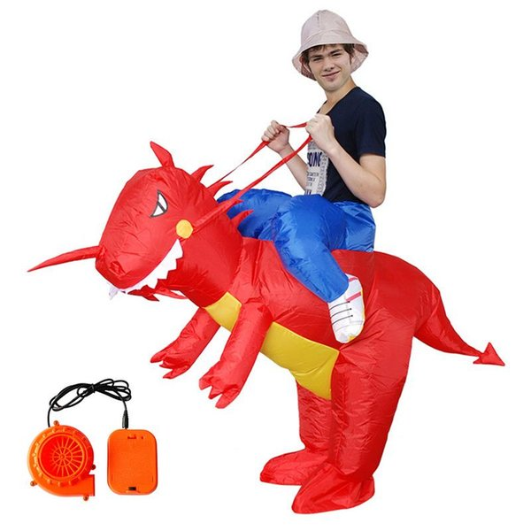 Dinosaur Shape Inflatable Clothing Adult Children Performance Cosplay Cartoon Costume Party Halloween Christmas Inflatable Suit