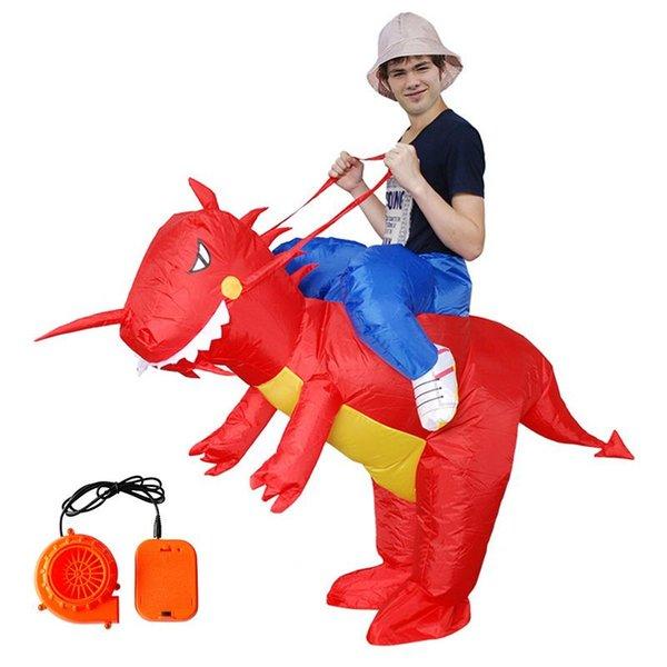 Figura gonfiabile del costume di Halloween del costume di cosplay di prestazione dei bambini dell'abbigliamento gonfiabile di forma del dinosauro Vestito gonfiabile di Natale di Halloween