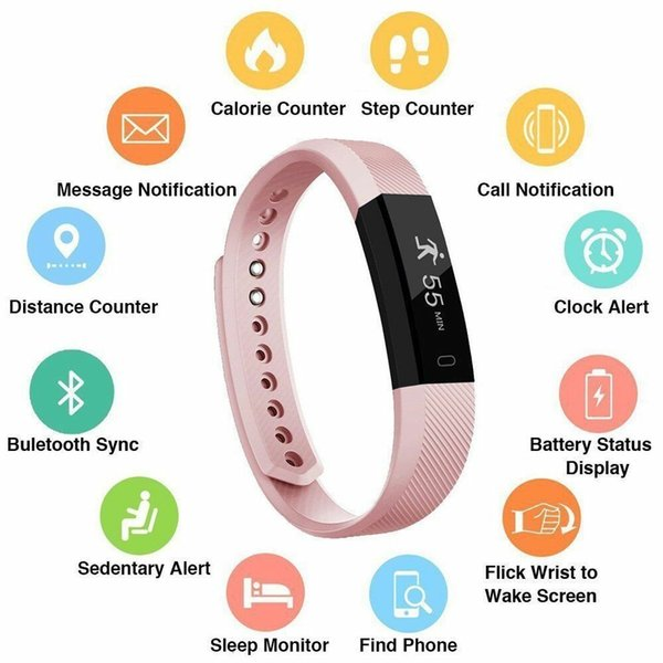 Fitness Tracker Remind Self-Timer Smart Watch Activities Tracker Calorie Counter Wireless Pedometer Sleep monitor pedometer for iOS Android