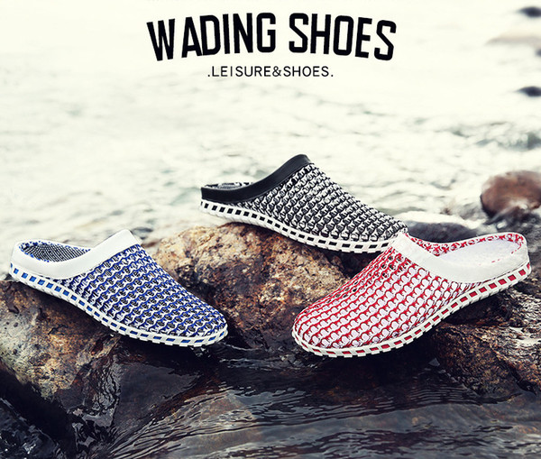 best selling The new summer breathable sandal sandals, A lazy person Net surface Leisure cave shoes, men's slippers.