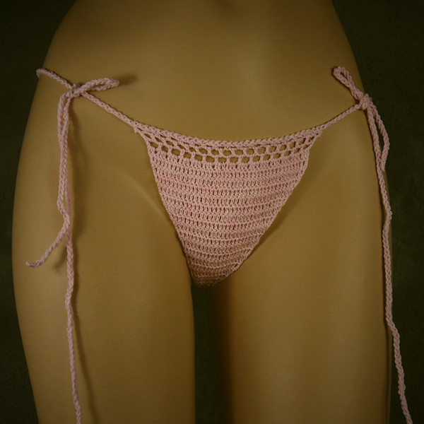 custom made sexy micro bikini NEW Sexy Pink G String Intimates & Panties thong. Made 100% cotton handmade crochet pants